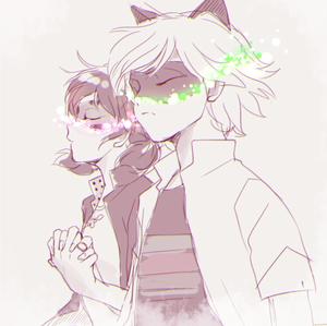 Marinette/Ladybug and Adrien/Chat Noir
