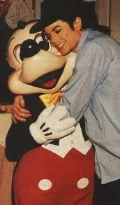 Michael Hugging Mickey Mouse