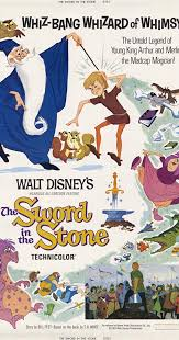 Movie Poster 1963 디즈니 Film, The Sword And The Stone