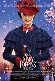 Movie Poster 2018 Disney Film, Mary Poppins Returns