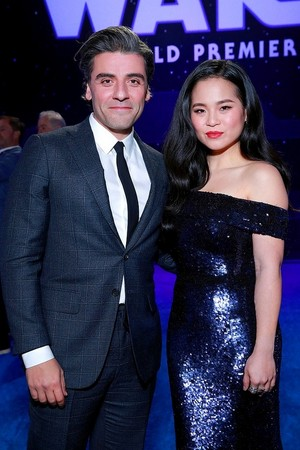 Oscar Isaac and Kelly Marie Tran - premiere of ster Wars: The Rise Of Skywalker - December 16, 2019