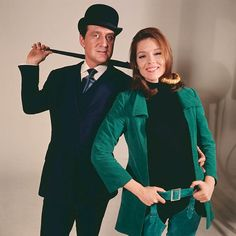 Patrick Macnee and Diana Rigg