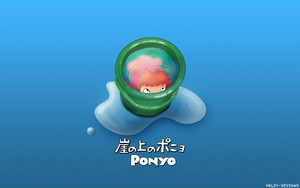 Ponyo on the Cliff oleh the Sea