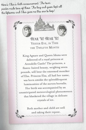 Proclamation of Elsa's birth (from A سال with Elsa and Anna)