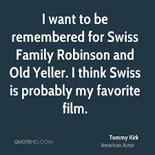 Quote From Tommy Kirk