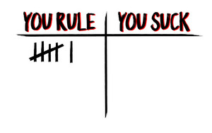 Robin's wewe Rule / wewe Suck karatasi la kupamba ukuta
