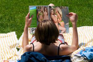 She Reading a Maxim Magazine