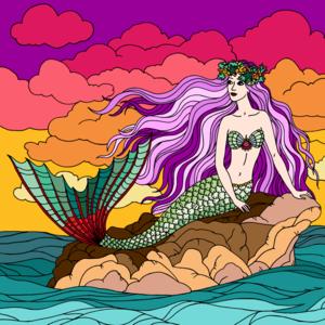 Sirena sullo scoglio