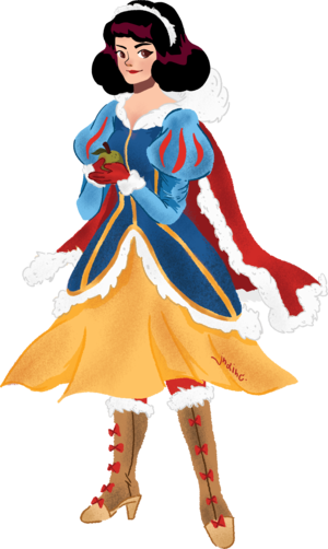 Snow White in a Winter Attire