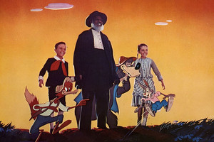 Song of the South (1946) Still - Johnny, Uncle Remus and Ginny