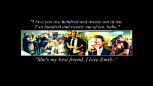 Stephen Amell and Emily Bett Rickards wallpaper
