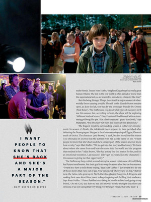Stranger Things in Entertainment Weekly - February 2017 [Part 5]