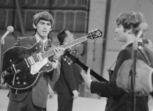The Beatles Backstage at The Ed Sullivan tunjuk