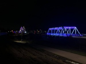 The Duck Creek Bridgeway is lit for the 2019 holiday season — Oneida Indian Reservation -Wisconsin