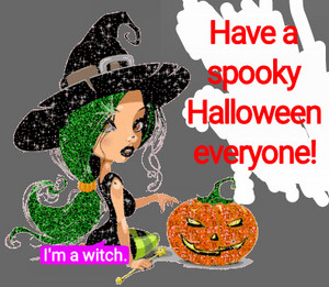 And the (good) witch said: 'Have a spooky Halloween everyone!'