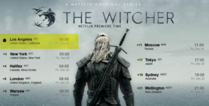 The Witcher - Season 1 Release Times