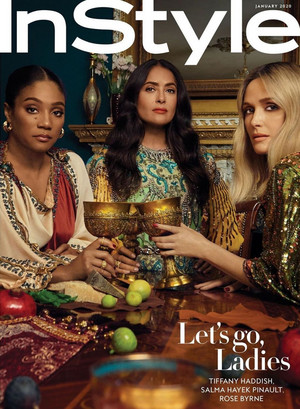 Tiffany Haddish, Salma Hayek and Rose Byrne - InStyle Cover - 2020