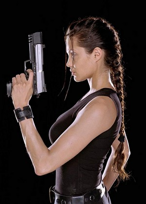 Tomb Raider Photoshoot - Angelina Jolie as Lara Croft