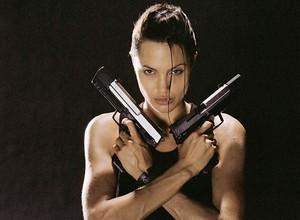 Tomb Raider Photoshoot - Angelina Jolie as Lara Croft
