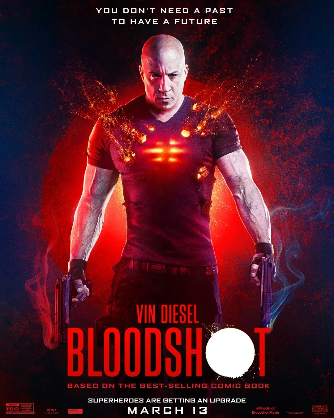 Vin Diesel on a Bloodshot (2020) Poster - anda don't need ...