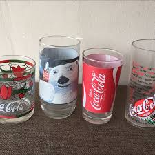 Vintage Coca Cola Drinking Glasses
