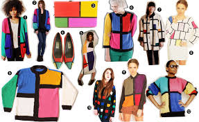 Vintage Color Block Fashion Collection