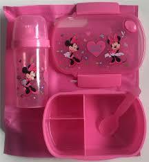 Vintage Minnie chuột Lunchbox Set