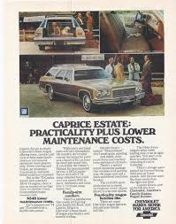 Vintage Promo Ad 1975 Chevy Caprice Station Wagon