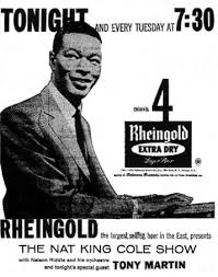 """Vintage Promo Ad The Nat """"King"""" Show"""