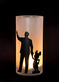 Walt Disney And Mickey ماؤس Candle Holder