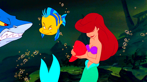 Walt Дисней Screencaps – Glut, камбала & Princess Ariel