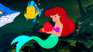 Walt Disney Screencaps – Glut, Flounder & Princess Ariel