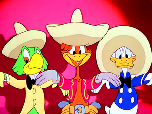 Walt 디즈니 Screencaps – José Carioca, Panchito Pistoles & Donald 오리