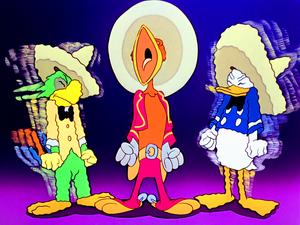 Walt Disney Screencaps – José Carioca, Panchito Pistoles & Donald Duck