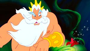 Walt Disney Screencaps – King Triton & Sebastian
