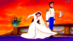 Walt Disney Screencaps - Vanessa, Prince Eric, Scuttle & The Blue Birds