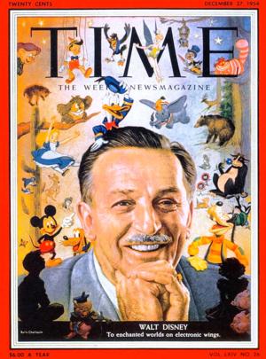 Walt Disney - Time Magazine Cover - December 27, 1954