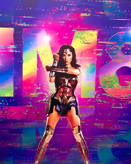 Wonder Woman 1984 promotional image from CCXP