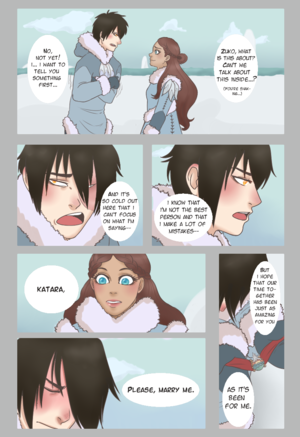Zuko proposes to Katara (Comic)