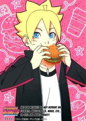 boruto with burger