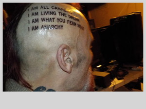 head tattoo right side of head