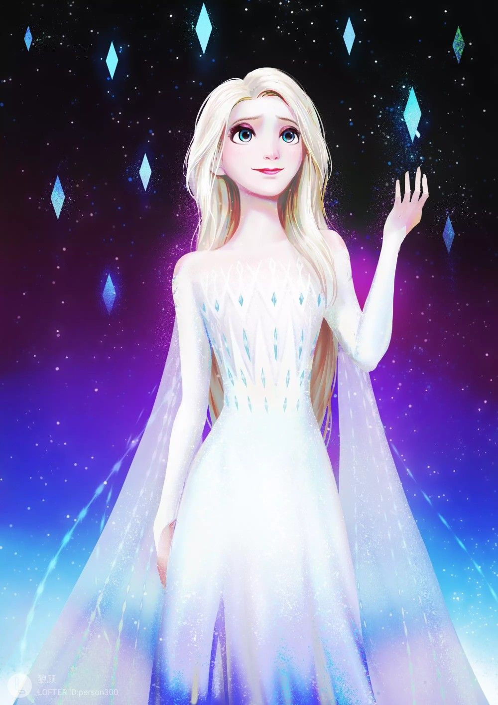 32745_32746- Disney Frozen 2 Singing Light Up Jumbo Plush