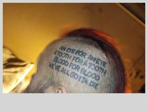 tattoo left side of head