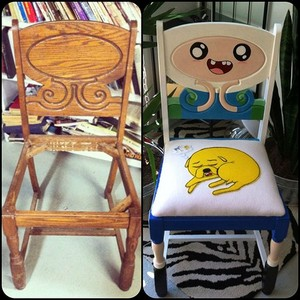 Adventure Time Painted Chair