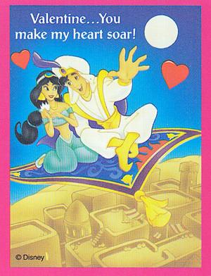 Aladdin - Valentine's Day Cards - Aladdin and Jasmine