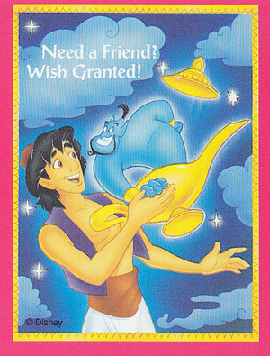 Aladdin - Valentine's Day Cards - Aladdin and Genie