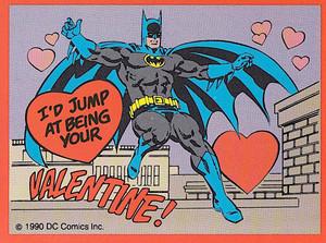 Batman on a Valentine's Day Card