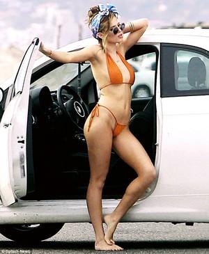Bella bikini photo shoot
