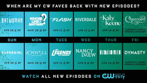 CW TV - Spring 2020 Return Dates
