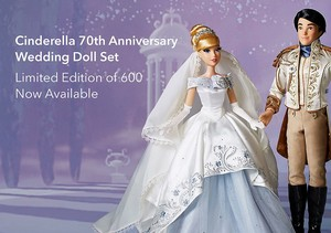 Cinderella 70th Anniversary Platinum Wedding Set